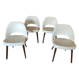 Custom Saarinen Executive Armless Chairs - S/4