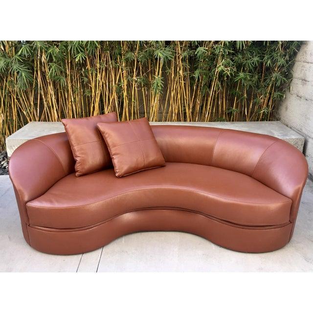 Vladimir Kagan Biomorphic Kidney Bean Shaped Sofa - Image 3 of 9