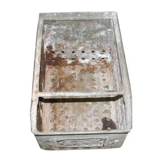 Antique Rustic Metal Bin