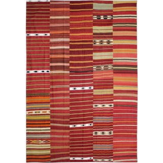 Aara Rugs Inc.Hand Knotted Patchwork Kilim - 9′9″ × 13′2″