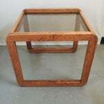 Image of Glass Top Mid-Century Side Table