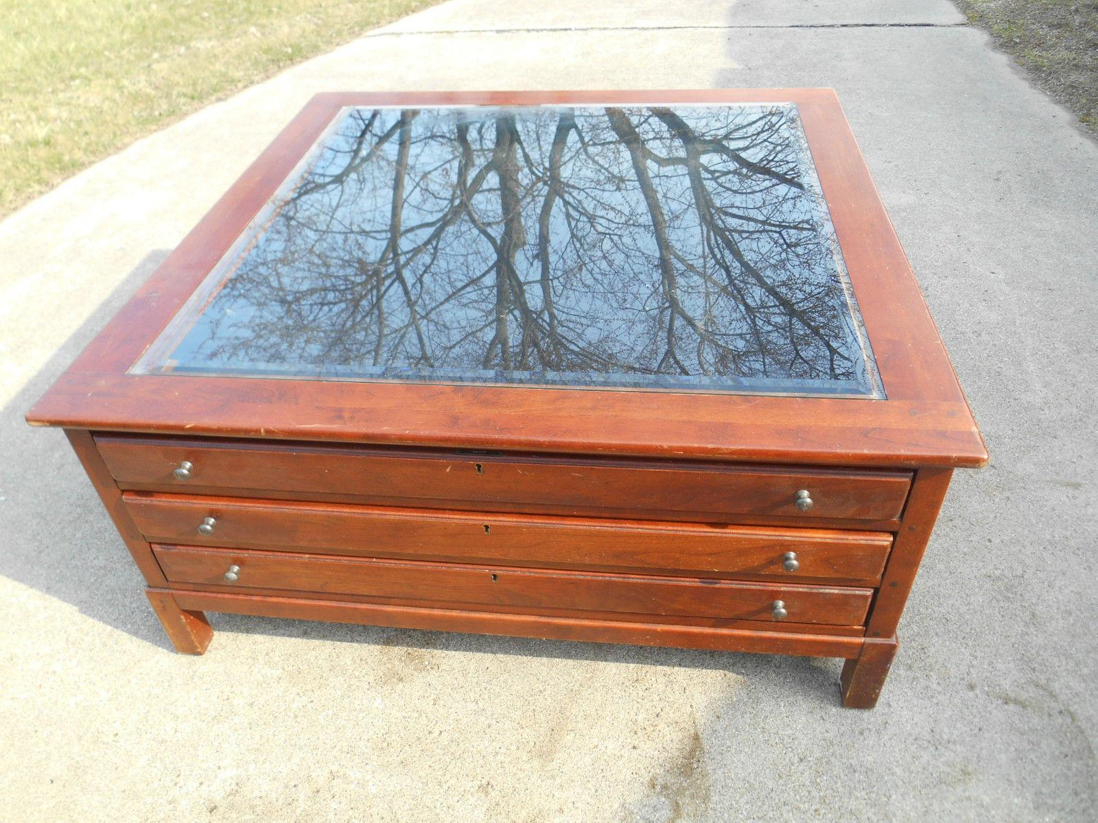 vintage bob timberlake cherry square coffee / cocktail table