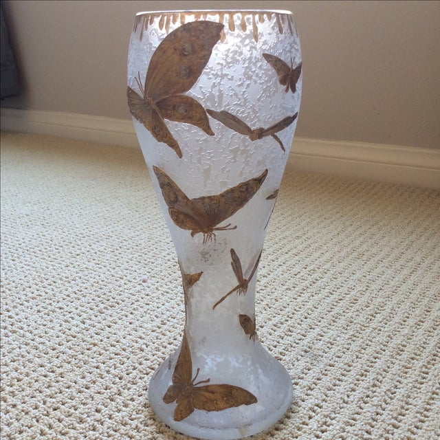 Legras Butterfly & Dragonfly Glass Vase - Image 2 of 6