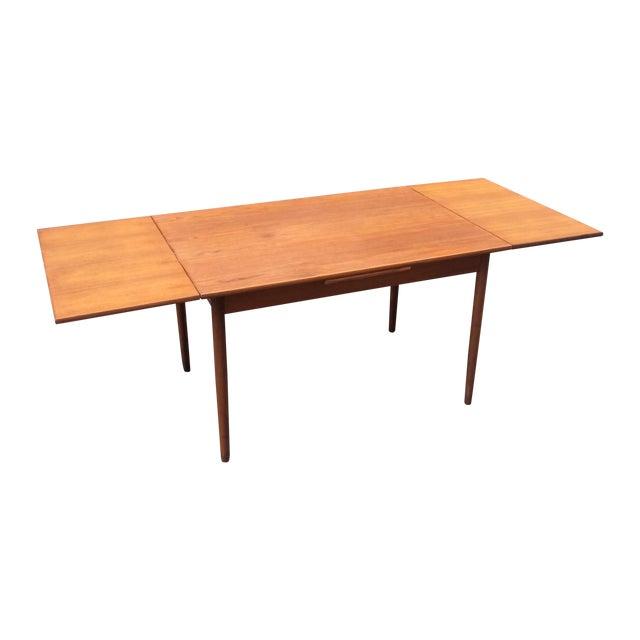 Two Pull Leaf Teak Danish Dining Table 1960s Chairish