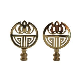 Brass Art Deco-Style Finials - A Pair