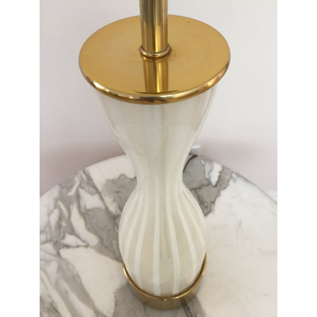 Italian Modern Glass and Brass Table Lamp - Image 6 of 8