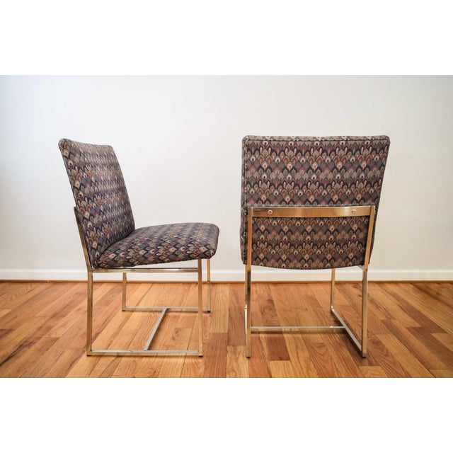 Mid-Century Milo Baughman Style Dining Chairs - Set of 6 - Image 4 of 11