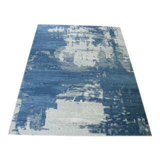 Abstract Art Blue Rug - 8' x 11'4""