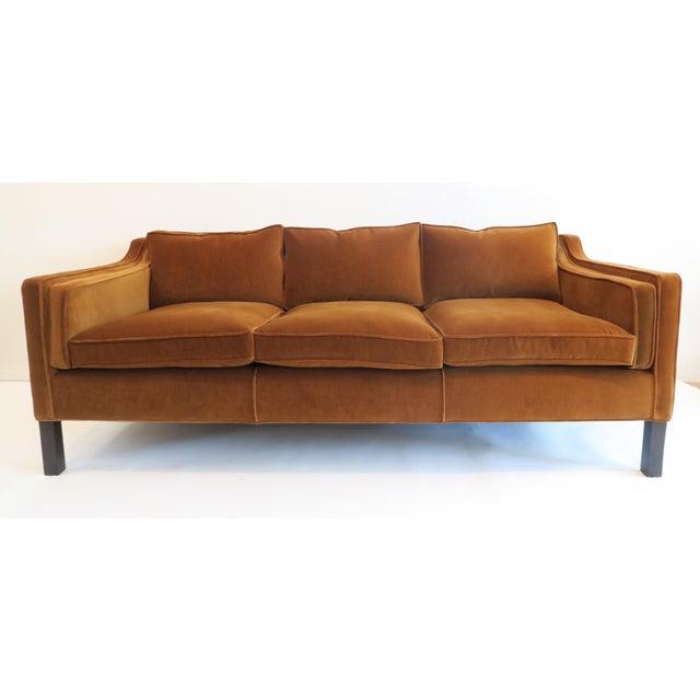 Custom modern thin arm sofa chairish for Sofa with only one arm