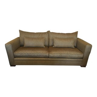 Gold Down & Feather Chenille Sofa
