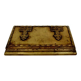 Florentine Gold Wood Box