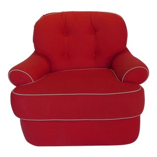 Modern Red Upholstery Club Chair