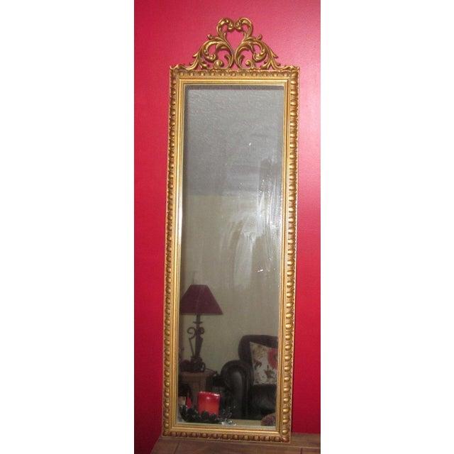 Vintage Gold Scroll Hollywood Regency Mirror - Image 3 of 3