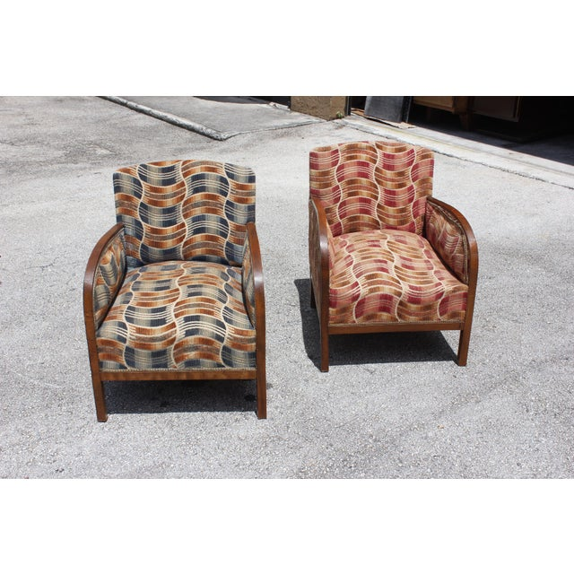 French Art Deco Sold Mahogany Speed Armchairs - A Pair - Image 2 of 11