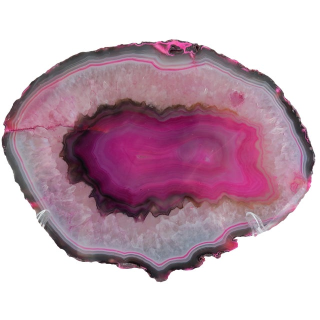 Hot Pink Geode Cross-Section - Image 1 of 6