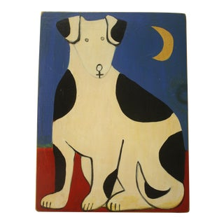 Folk Art Painting of Dog by Cate Cristen Waung