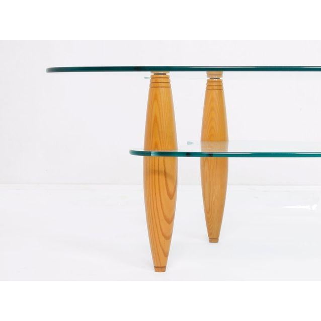 Image of Compact 2-Tier Modernist Glass Coffee Table