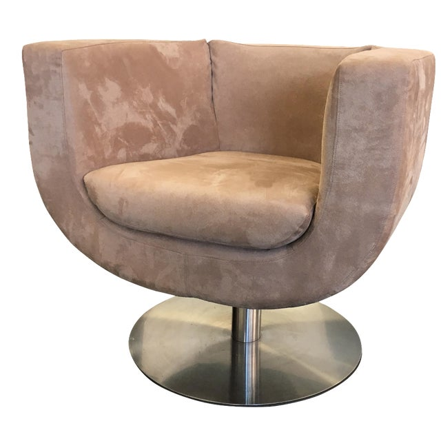 Triumph Microsuede Tulip Chairs - A Pair - Image 1 of 8