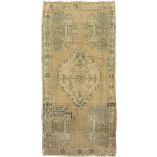 Vintage Turkish Yastik Hand Knotted Rug 1'6 x 3'1