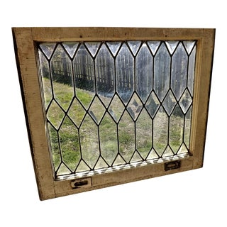 Antique Stained Glass Beveled Leaded Window