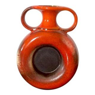 Vintage Orange Austrian Vase