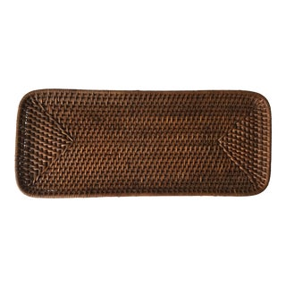 Rattan Woven Oblong Tray