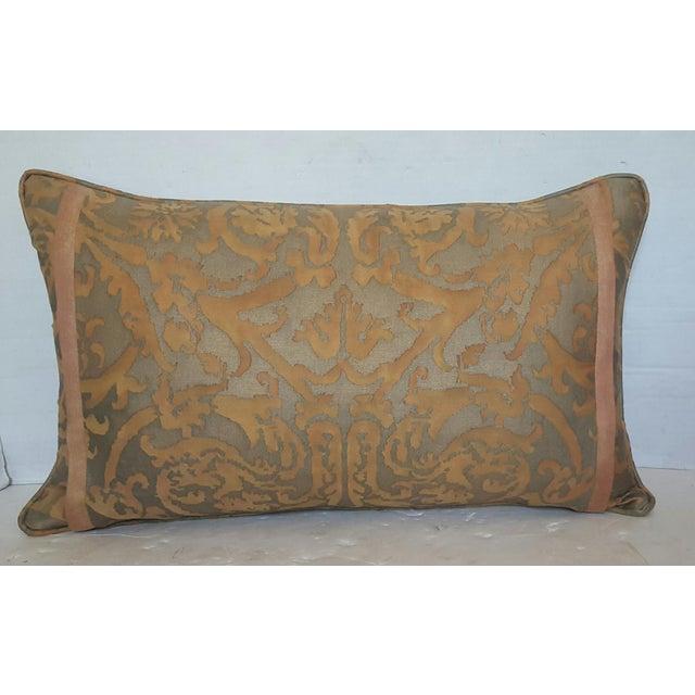 Fortuny Damask Lumbar Pillows - A Pair - Image 3 of 4