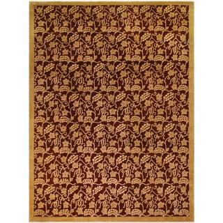Kafkaz Peshawar Yolanda Red/Gold Wool Rug - 8'11 X 11'11