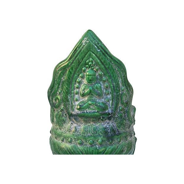 Majolica Buddha Head - Image 7 of 7