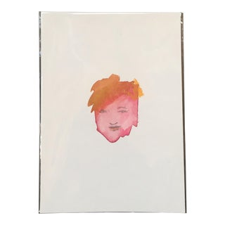 Abstract Face Watercolor Painting