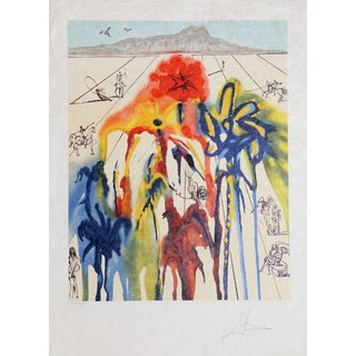 "Salvador Dali ""Diamond Head"" Lithograph"