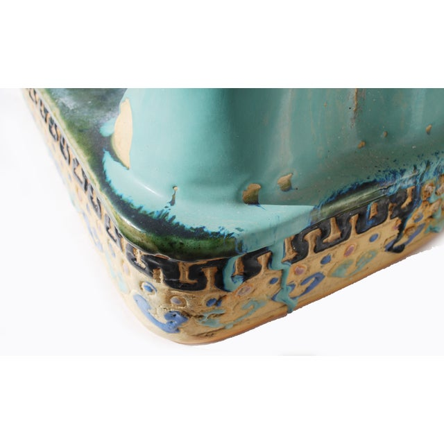 Turquoise Elephant Garden Stool Chairish