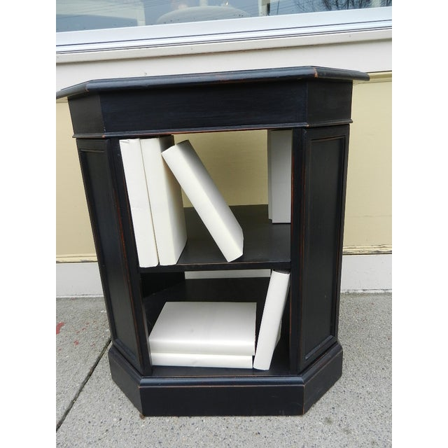 Leather Top End Table Bookcase - Image 4 of 5