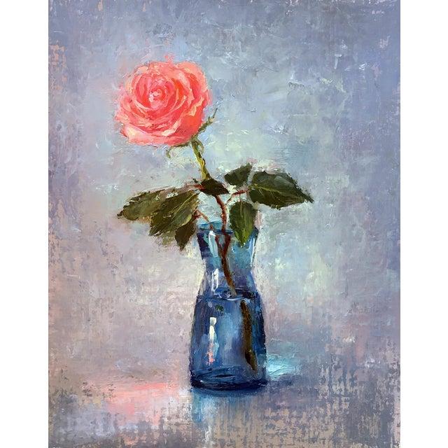 """Rose"" Original Oil Painting - Image 1 of 5"