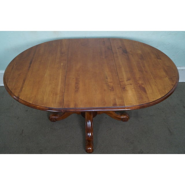 Ethan Allen Maple Coffee Table: Ethan Allen Country Crossings Round Pedestal Dining Table
