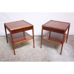 Image of Pair of T. H. Robsjohn-Gibbings Single Drawer End Tables