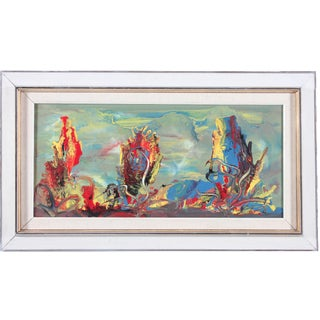 Abstract Impressionist Drip & Smear Oil Painting