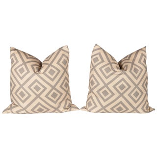 Gray David Hicks Fiorentina Pillows- A Pair