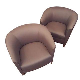Bernhardt Blue Club Chairs - A Pair