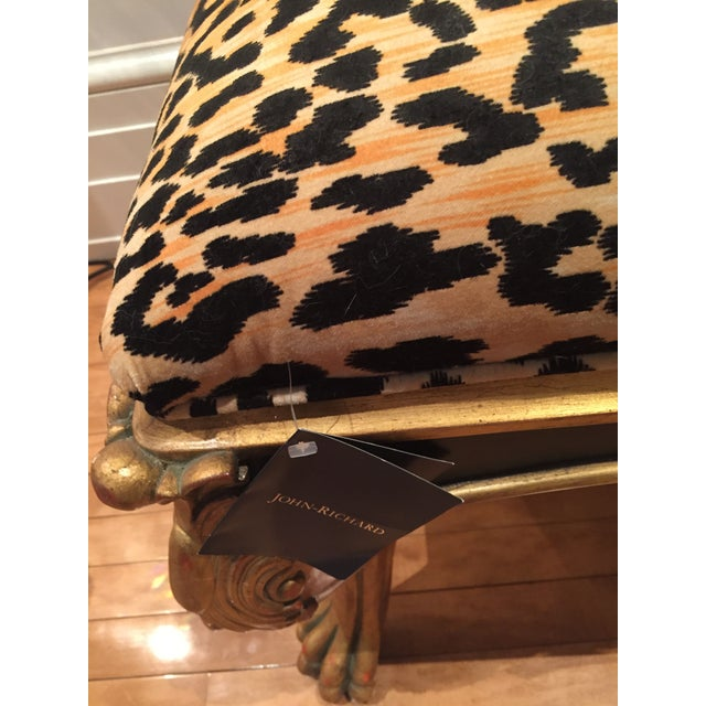 Zahra leopard print bench chairish Leopard print bench
