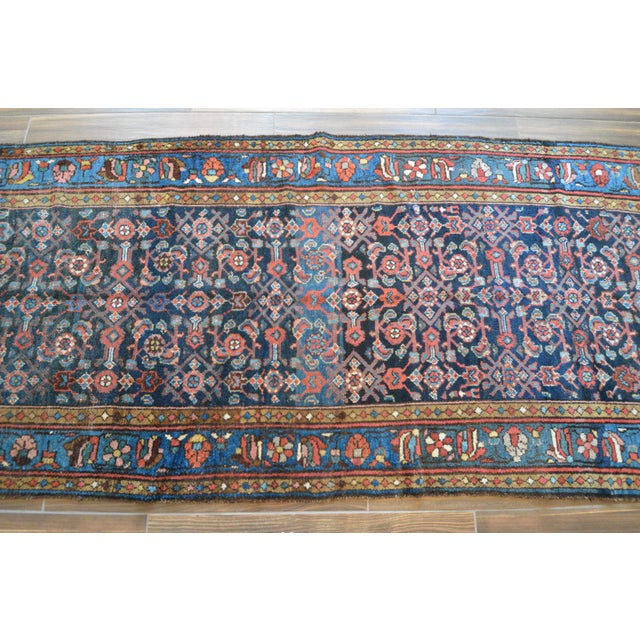 Antique Persian Hand Woven Runner- 3′10″ × 9′7″ - Image 4 of 11