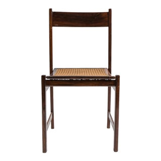 Set of 6 Brazilian Rosewood and Caned Dining Chairs attributed to Joaquim Tenreiro-1950's