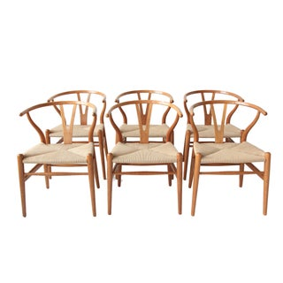 Vintage Hans Wegner Wishbone Chairs - Set of 4