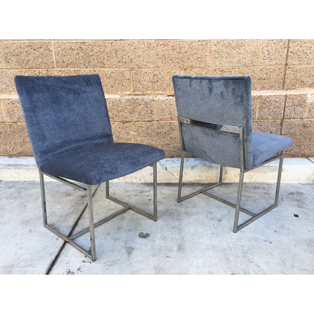 Milo Baughman Vintage Dining Chairs - Set of 4 - Image 4 of 5