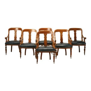 English Regency Mahogany Board Room Chairs - Set of 6