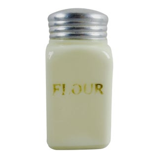 Custard Glass Vintage Flour Shaker