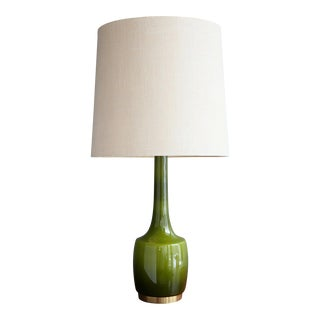 Green Glass Table Lamp by Holm Sørensen & Co.