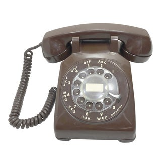 Chocolate Brown Rotary Dial Telephone