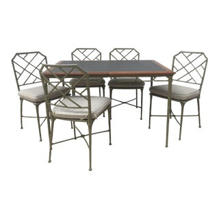 Brown Jordan Calcutta Faux Bamboo Table & Chairs