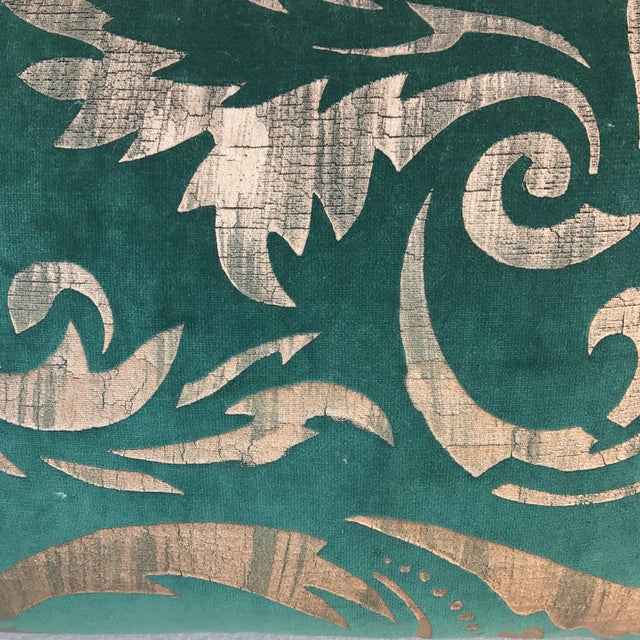 Hand Stenciled Velvet Pillows - A Pair - Image 3 of 6